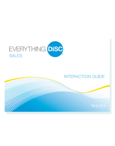 Everything DiSC, Interaction Guides, Sales, Sheila K Consulting